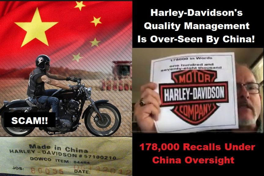 Harley Davidson-Quality System Is Watched Over By China-Led IAF