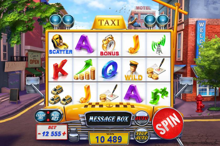 "Game design for the online slot game ""Taxi"""