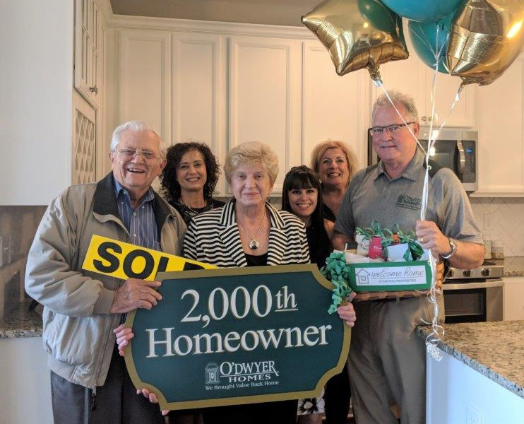 O'Dwyer Homes' 2,000th Homeowners