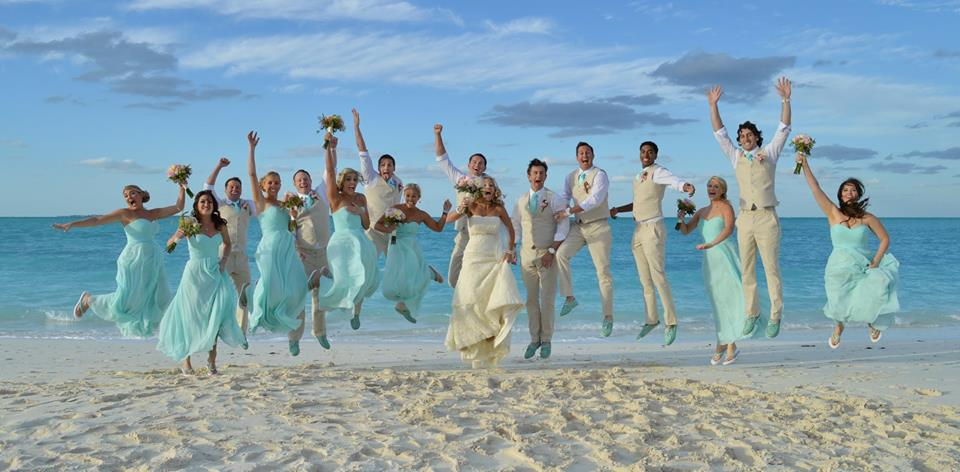 wedding couples at bahama beach club