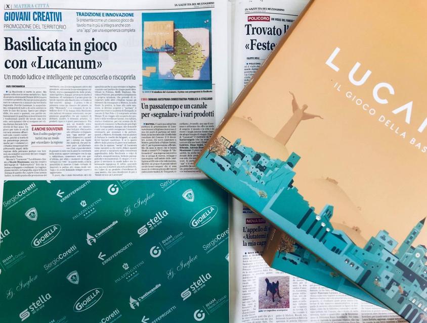 Lucanum - Gioco della Basilicata - Articolo Gazzetta del Mezzogiorno