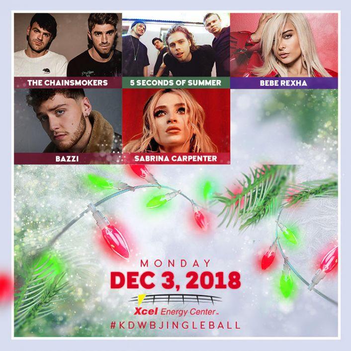 101.3 KDWB's Jingle Ball 2018 will take place Monday, Dec. 3.