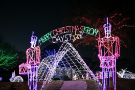The kid-friendly Christmas Town at Daystar Christmas