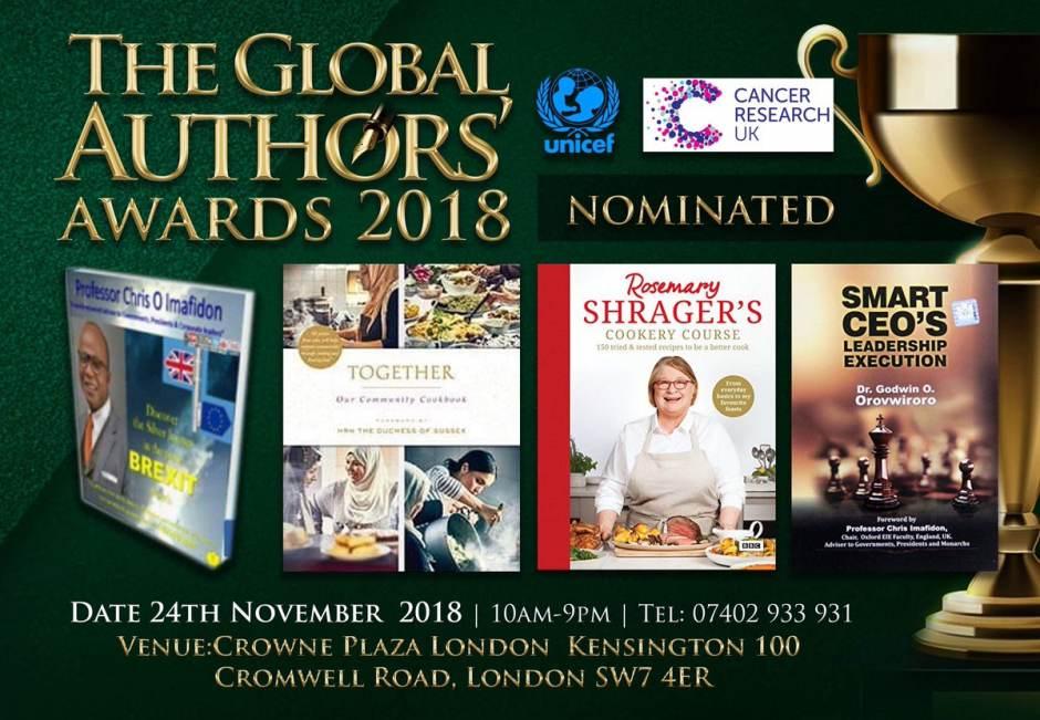 Meghan, Obama, Imafidon & Branson nominated for Global Author awards