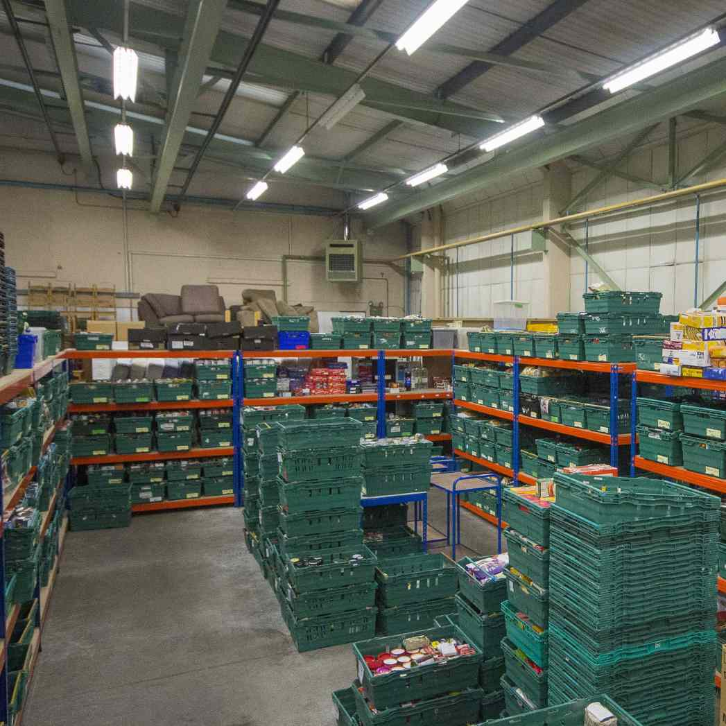 Stroud District Foodbank, Brimscombe - Picture by Carl Hewlett/Stand Out Studio