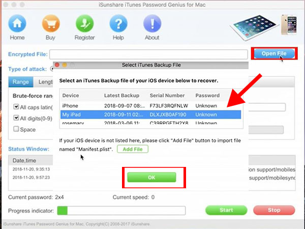 iSunshare carried out best iTunes backup password recovery