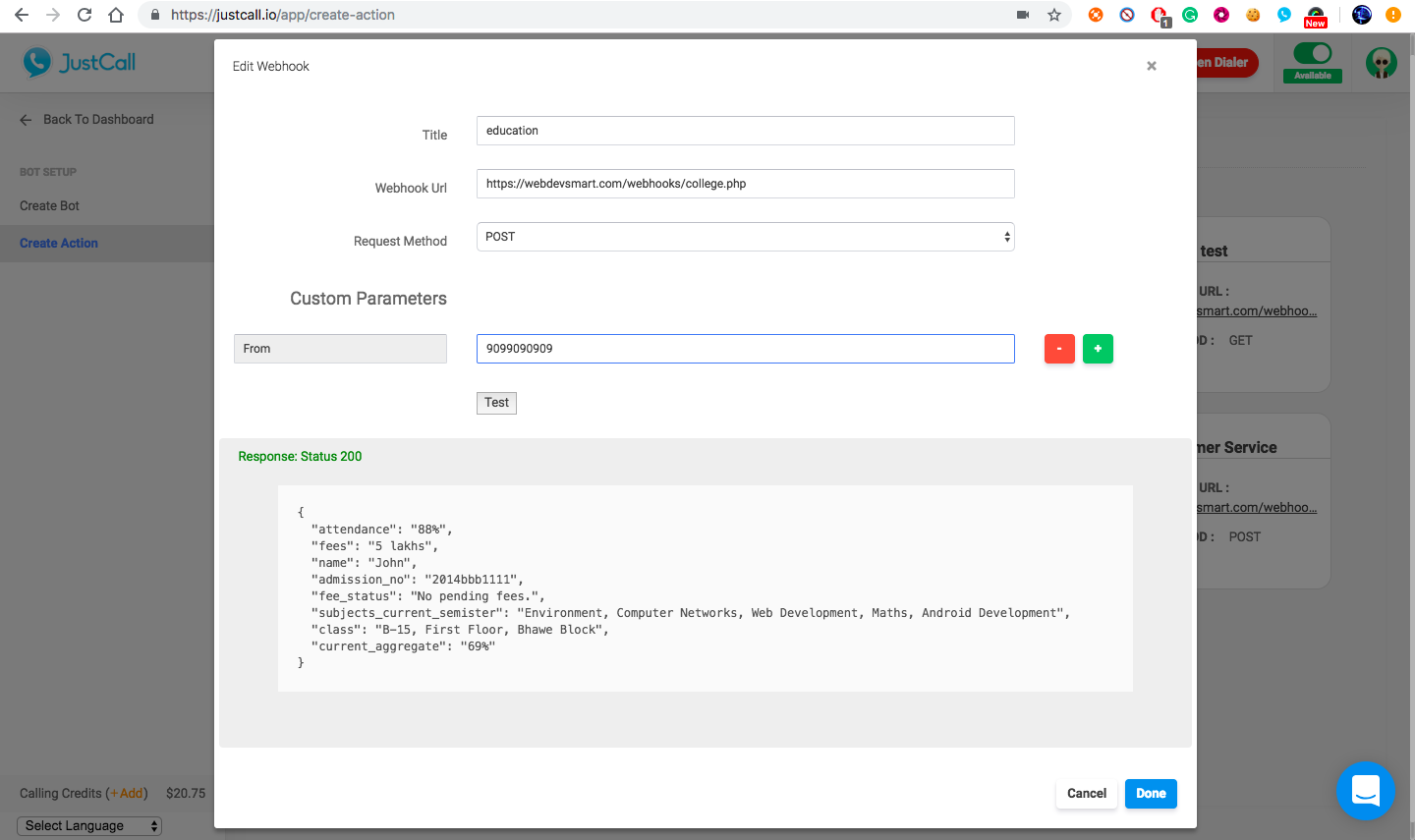 Empower your SMS Bot with Dynamic Information From Database