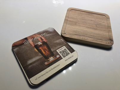 "Smart Call"" connected beer coaster that knows how full the beer glass is"