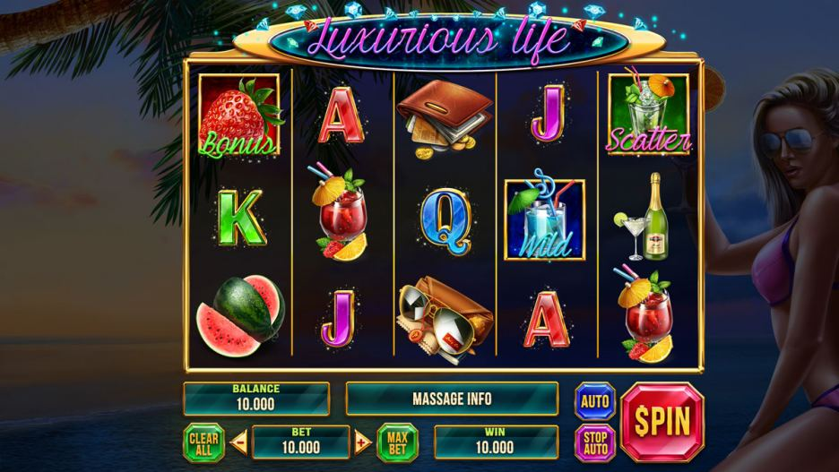 """Graphic design for the online slot game """"Luxurious Life"""""""
