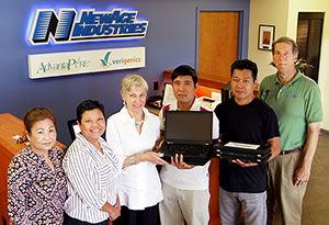 NewAge Industries Laptop Donation to Rural Cambodian School