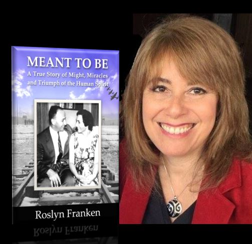 Roslyn Franken with book, Meant to Be