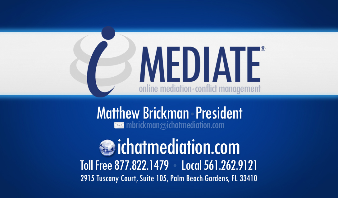 iMediate Inc - Florida Divorce Mediators www.ichatmediation.com