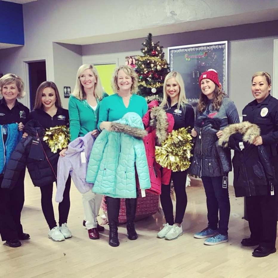 In 2017 coats were distributed at the Girls & Boys Club by Katrina Foley