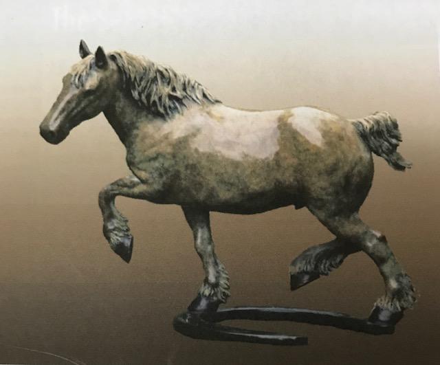 "Charles Ellithorpe,DVM ~ 'Mikey' ~ Limited Edition Bronze Sculpture 12""H x 12""W"