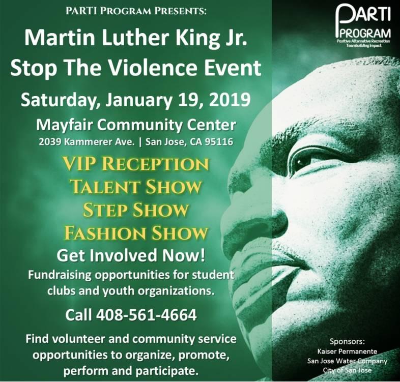 MLK Stop The Violence 2019 Flyer