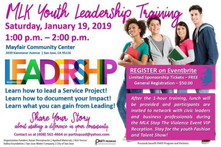MLK Youth Leadership Training Flyer
