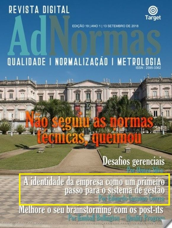 Adnormas article by Eduardo Correa, Quality Management Expert