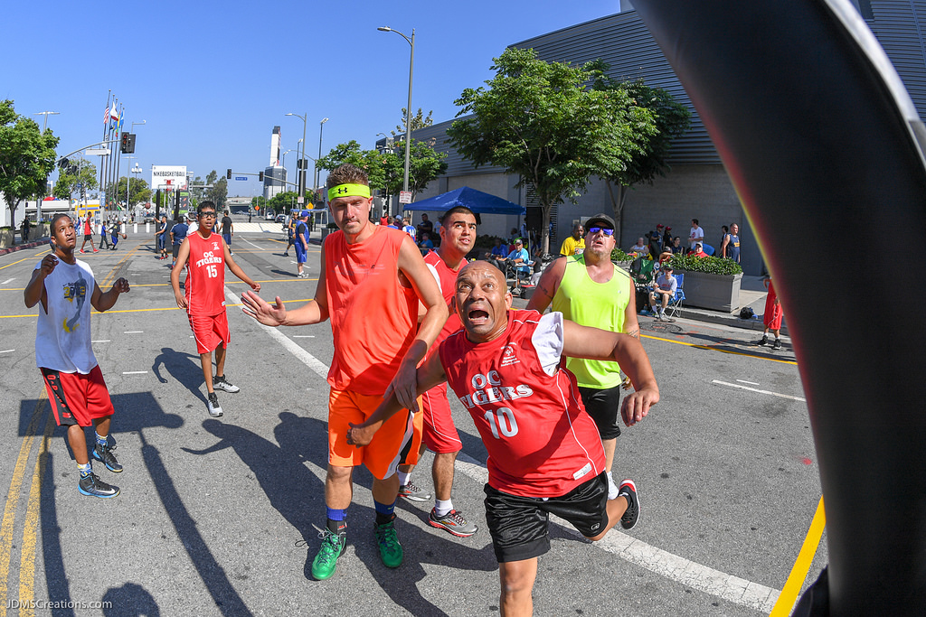 Special Olympics SoCal athletes at the 2018 Nike 3ON3 Basketball Tournament