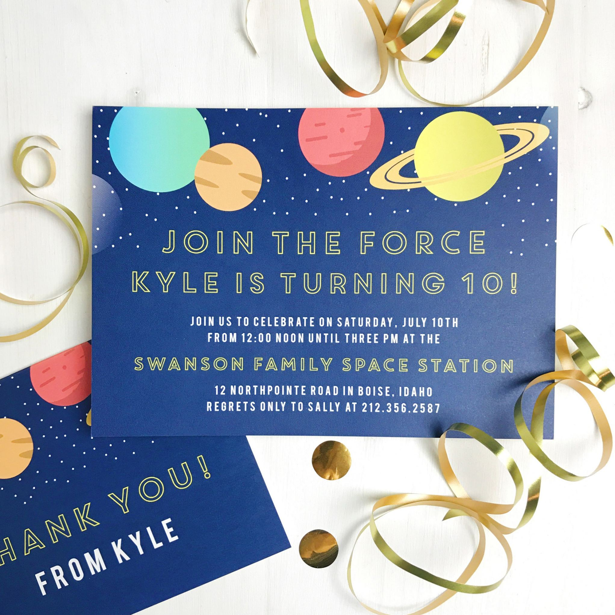 Basic Invite Releases Custom Kids Birthday Invitations