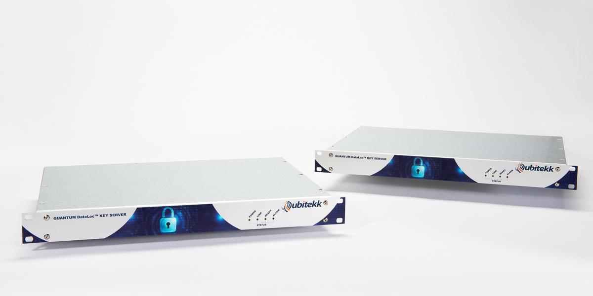 Two Transceivers of Qubitekk's Quantum Dataloc™ Key Server