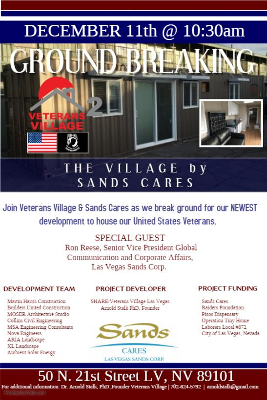 Veterans Village, The Village by Sands Cares