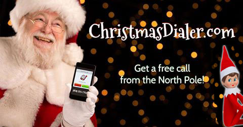 ChristmasDialer.com get a free call from the North Pole!