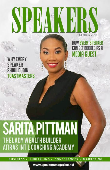 Speakers Magazine cover story Sarita Pittman