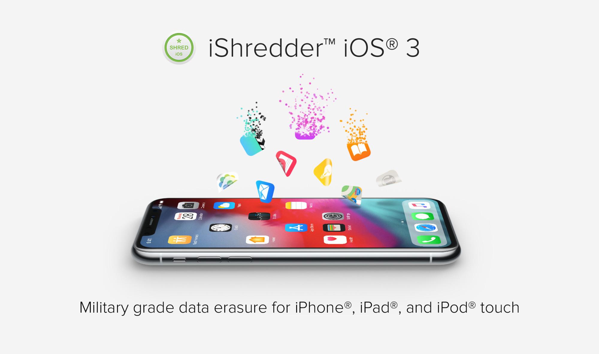 iOS Eraser & iPad Wiper: iShredder iOS