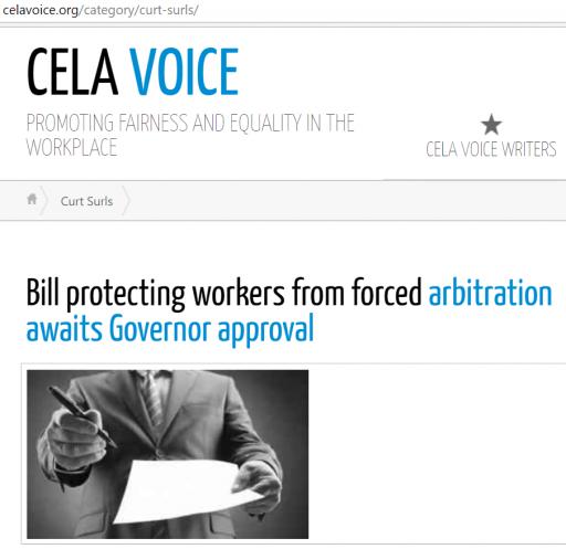 Articles by Curt Surls on CELA VOICE