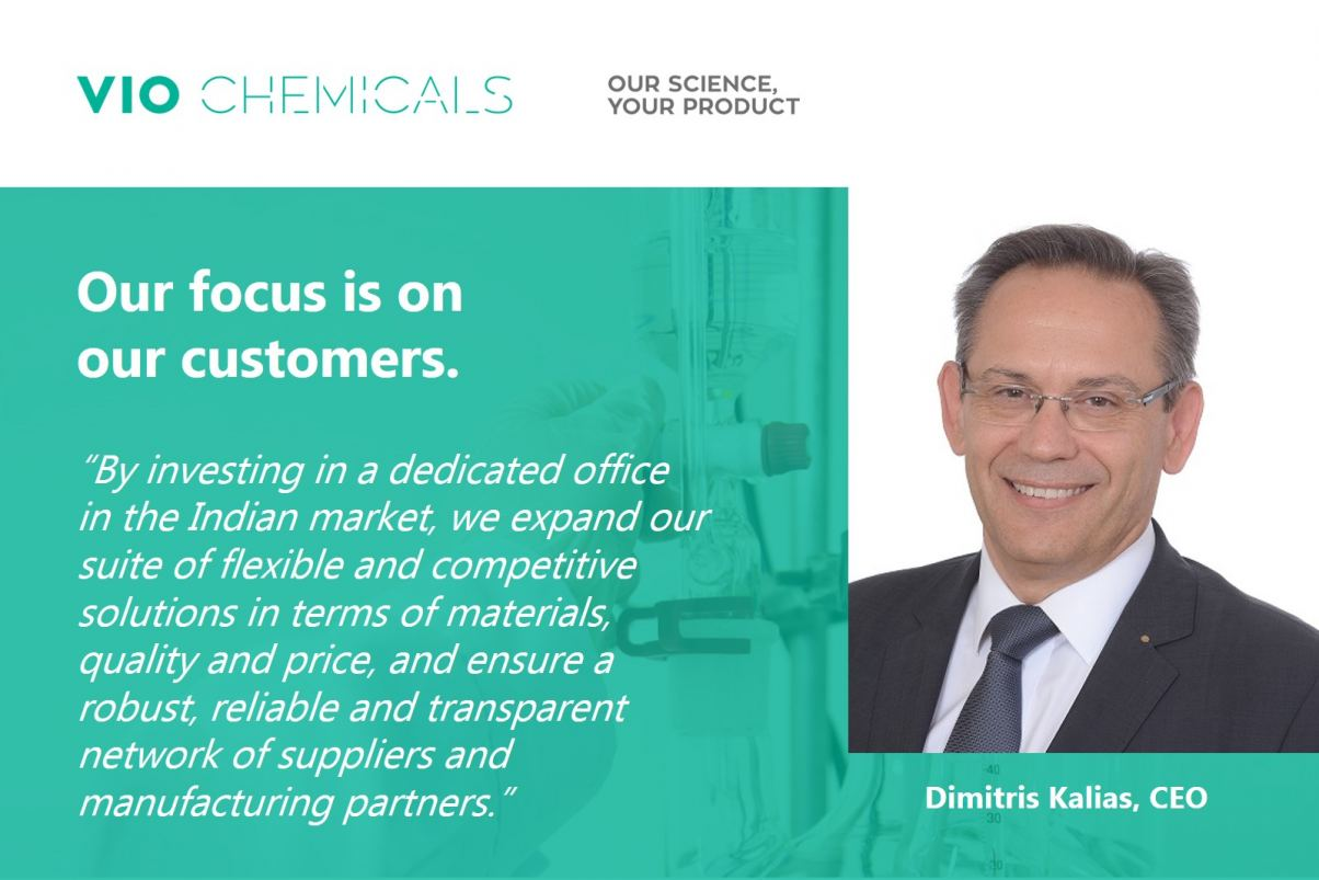 Kalias about VIO Chemicals new India office