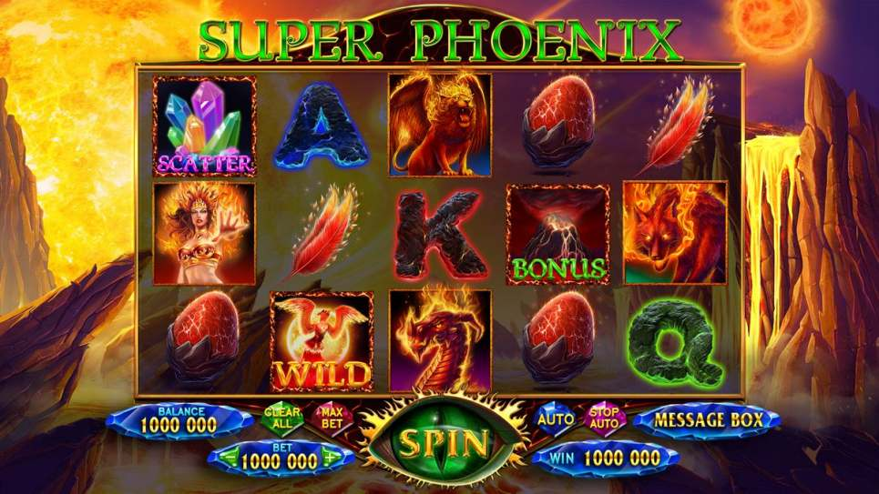 "Game design for the online slot game ""Super Phoenix"""