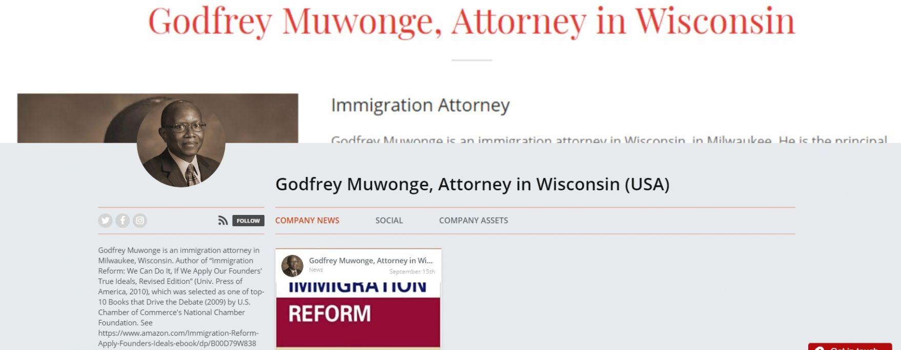 News about Godfrey Muwonge, Attorney in Wisconsin