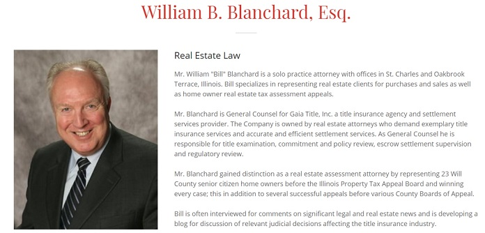 William B Blanchard - Real Estate Attorney in Illinois