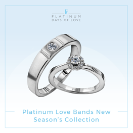 Jewelove Launches New Season's Platinum Love Bands Collection 2018-19.