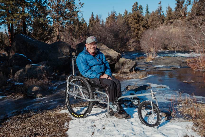 Geoff Babb gets back to nature in his new AdvenChair all-terrain wheelchair