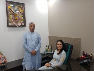 Mr. Maheshkumar Nirmal and Ms. Lekha Nirmal On The Day Of Inauguration