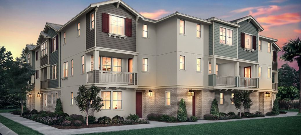 New three-story townhomes in the heart of Yorba Linda showcasing modern designs