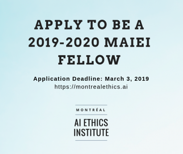 Apply to be a MAIEI Fellow 2019-2020