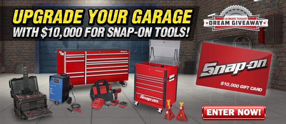 One Lucky Person will Win $10K to spend on Snap-On.com.