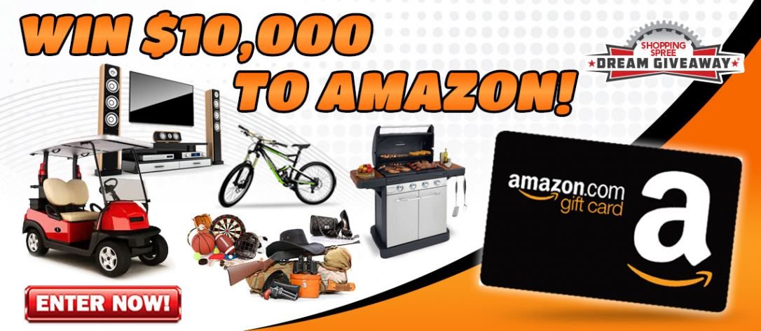 One person will win $10,000 in Amazon Gift Cards!