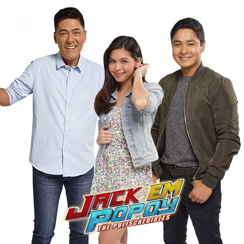 Vic Sotto, Maine Medoza and Coco Martin in Jack Em Popoy: The Puliscredibles