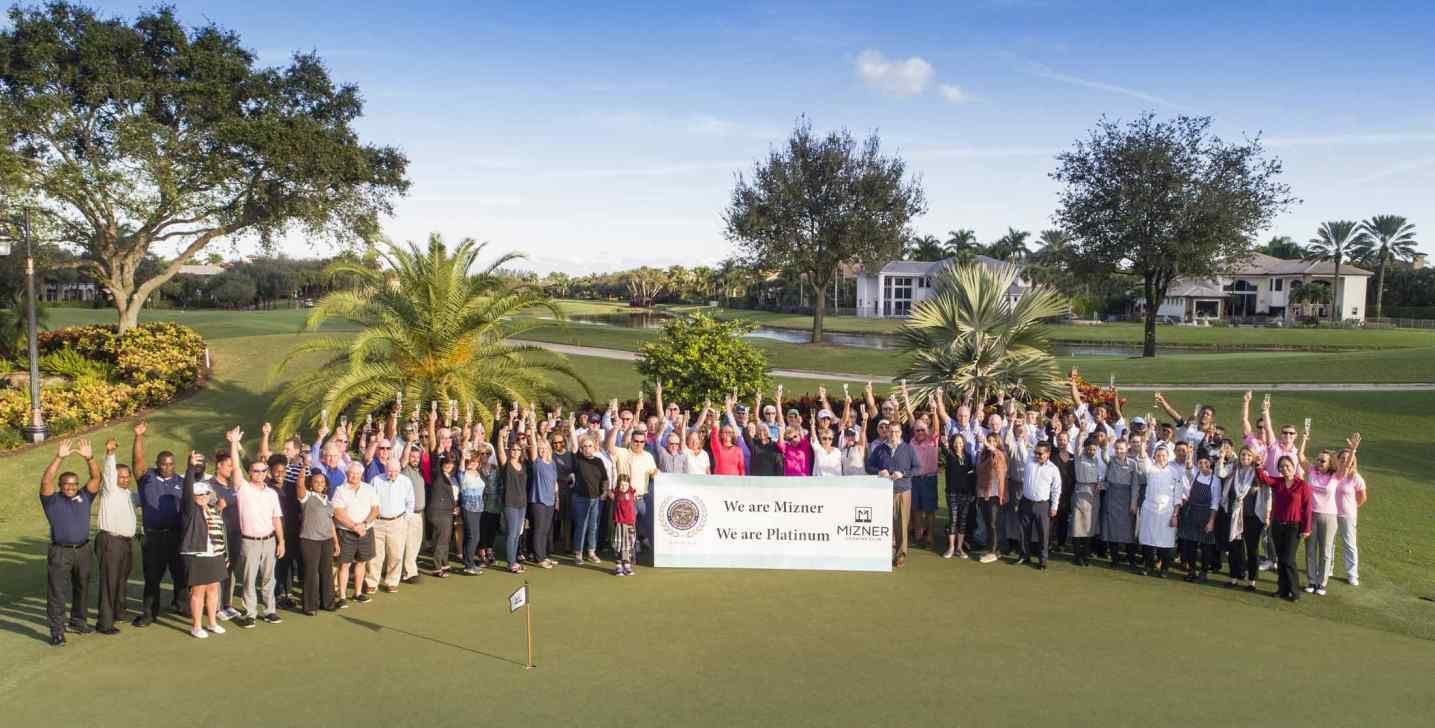 Mizner CC Celebrates Platinum Status Recognition