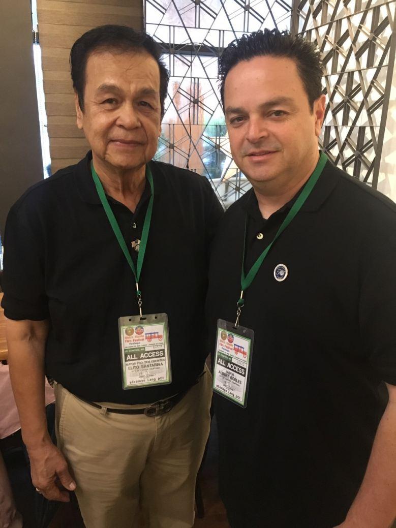 Carson City, CA Mayor Pro Tem Emeritus Elito Santarina and Mayor Albert Robles