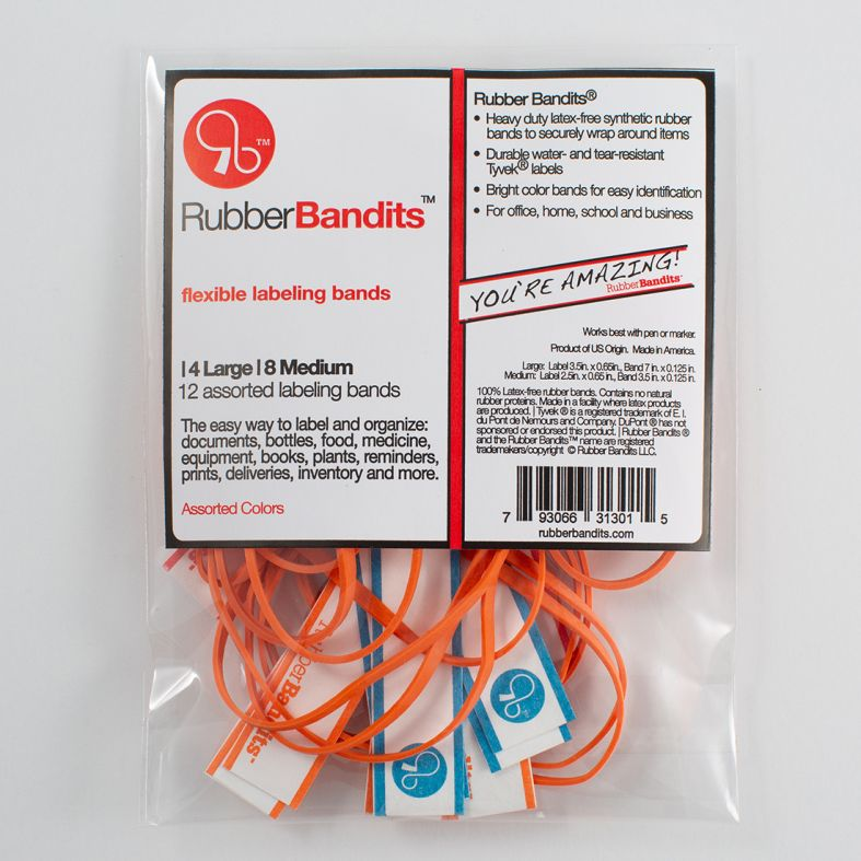 Rubber Bandits - the easy way to label, bundle and organize items