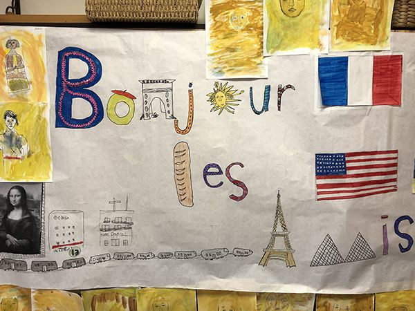 French greeting created for Paris students by Knoxville students