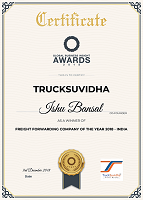 Certificate-freight forwarding company of the year