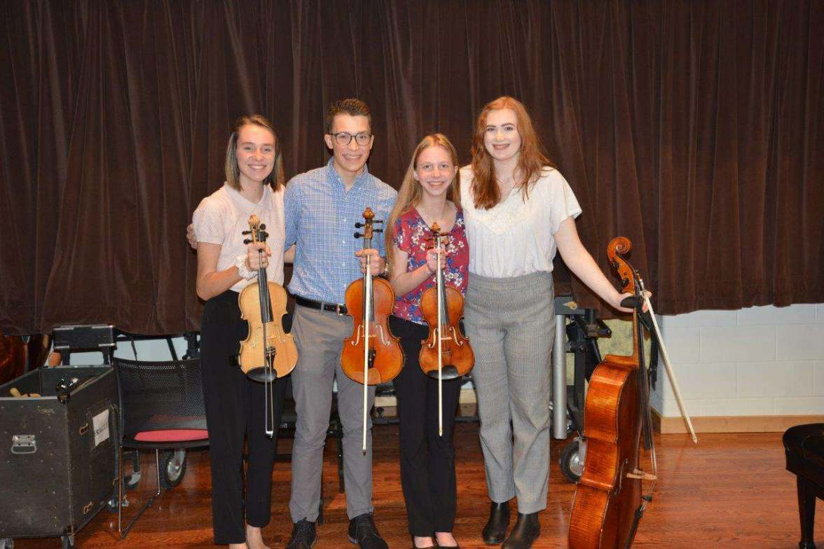Cedar Falls area high school string quartet