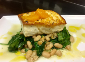 Caffe Luna Rosa's newest menu addition: Alaskan Halibut Filet