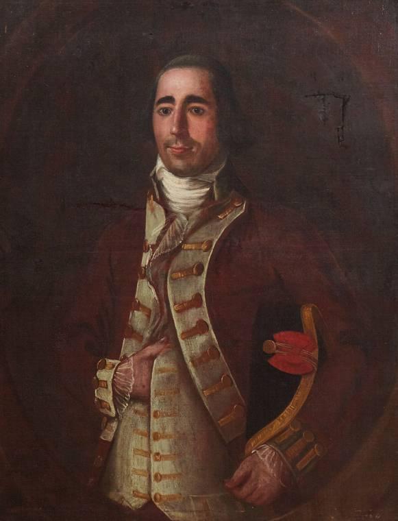Very rare oil on canvas portrait by Jose Francisco Xavier de Salazar y Mendoza.