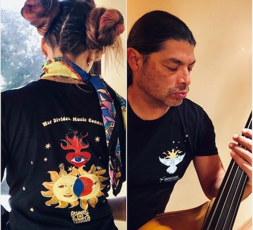 War Divides, Music Connects t-shirt
